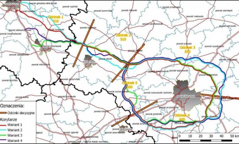Pismo GDDKiA w sprawie planowanego przebiegu Obwodnicy Aglomeracji Warszawskiej
