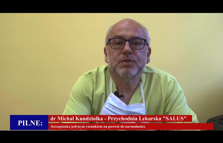 Na zdjęciu znajduje się Doktor Michał Kundziołka
