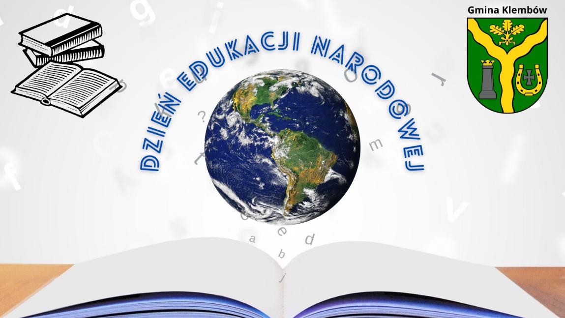 Dzień Edukacji Narodowej na tle książki i kuli ziemskiej