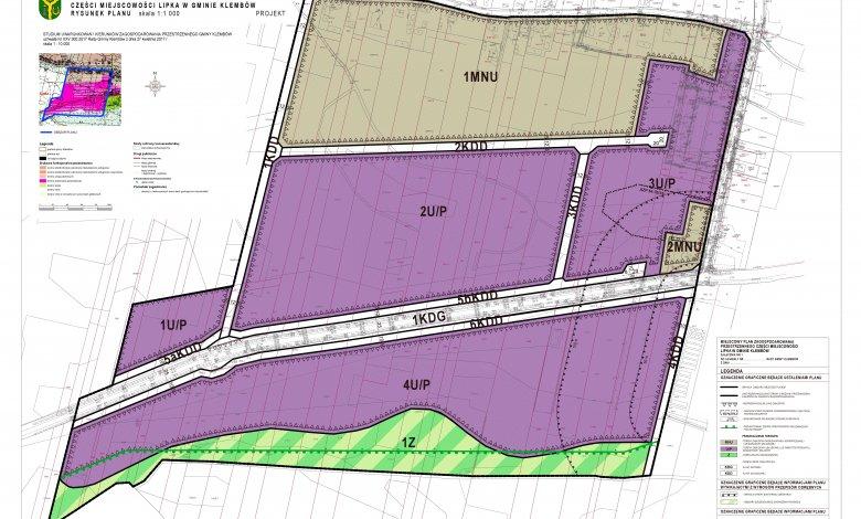 Projekt planu zagospodarowania przestrzennego części miejscowości Lipka w gminie Klembów
