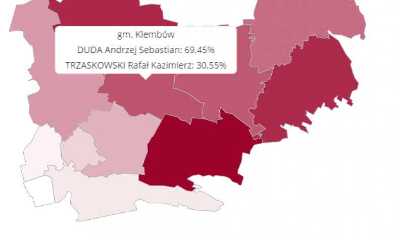 Wyniki Wyborów Prezydenckich w Gminie Klembów